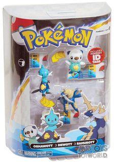 Pokemon Evolution 3 Pack -  Oshawott, Dewott, Samurott -