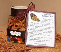 Harvest Blessing Mix. Nice gift for teachers, neighbors, friends etc...