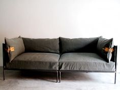 Indoor/Outdoor Furniture Made from Salvaged Waxed Canvas - Remodelista