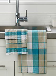 Shop Kitchen Linens & Tea Towels Online in Canada Weaving Designs, Weaving Projects, Weaving Patterns, Linen Towels, Dish Towels, Tea Towels, Card Weaving, Loom Weaving, Kitchen Linens