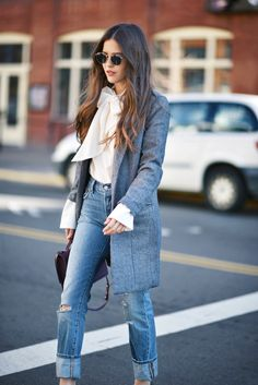 The Jeans All the Girls Are Wearing at NYFW via @WhoWhatWear