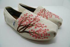 Cherry Blossom CUSTOM TOMS SHOES by KellismCo on Etsy. LOVE THEM
