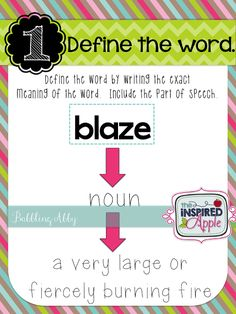 Interactive Vocabulary Notebooks! - The Inspired Apple