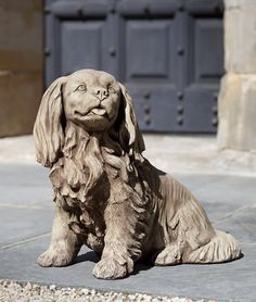Charlie cast stone dog statue made by Campania International