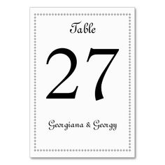 Shop Simple, Minimalist, Plain, Elegant Black & White Table Number created by AponxDesignsAnnex. Table Names, Conference Table, Minimalist Wedding, Letters, Black And White, Elegant, Simple, Cards, Etiquette