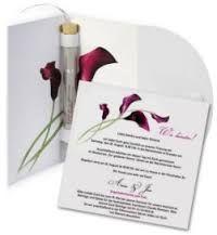 moderne hochzeitskarte mit baendchen kp034 | wedding inspiration, Einladungskarten
