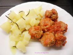 #Polpette con cestello e #patate con varoma