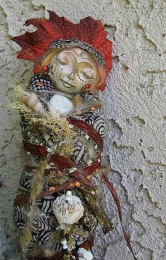 OOAK Spiral Moon Reiki Spirit Art Doll  Magic and by awesomeart