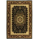 Found it at Wayfair - Traditions Jain Black Rug, family room