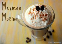 Mexican Mocha ... hot, sweet, and spicy.  Recipe:  http://thetravelbite.com/recipes/mexican-coffee/