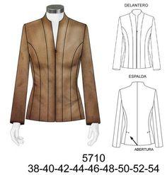 Resultado de imagen de chaqueta cuello mao mujer