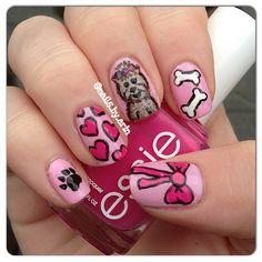 Yorkie/girly puppy nails! :)