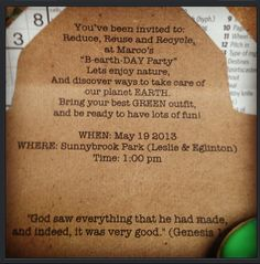 Earth day these party