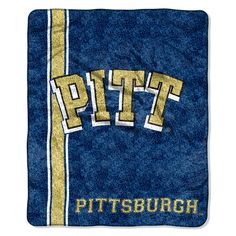Pittsburgh Panthers NCAA Sherpa Throw (Jersey Series) (50in x 60in)