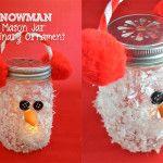 Snowman Mason Jar Luminary Ornament and DecoArt Giveaway