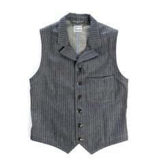 Stripe Denim Vest
