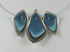 Chelsea E Bird: enamelled necklace