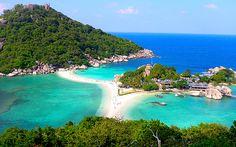 """Koh Tao """" Skilpaddeøya"""" - Surat Thani-provinsen - Thailand.  Kåret av Tripadvisor til å være Asias beste øy. Ideele dykkefohold, med mulighet for å ta dykkerlappen på en av de mange dykkeskolene."""