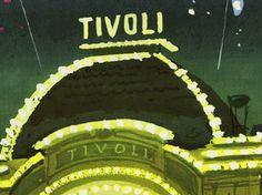 Vintage Danish Travel Poster Tivoli Gardens Copenhagen 1950s ... Tivoli Gardens Copenhagen, Travel Posters, Danish, 1950s, Ebay, Vintage, Danish Pastries, Vintage Comics