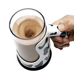 The Messless Chocolate Milk Mixing Mug - Hammacher Schlemmer.because making chocolate milk is so messy? Hammacher Schlemmer, Gadgets And Gizmos, Cool Gadgets, Techno Gadgets, Amazing Gadgets, Unique Gadgets, Geek Gadgets, Things I Want, Good Things