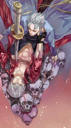 Devil May Cry / Dante & Vergil ❤️💙 Dante Devil May Cry, Image Boards, Pixel Art, Crying, Animation, Fan Art, Manga, Anime, Painting