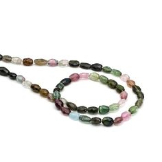 Tourmaline Faceted Oval Beads #jewellerymaking #jewelrymaking #gemstones #kernowcraft #gemstonebeads