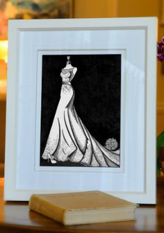 Augusta Jones wedding dress illustration by Wedding Dress Ink. Get your own personalised illustration for just €295