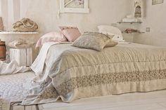 #danieladallavalle #artepura #bed #collection #design #style #home #night #linen #madeinitaly #lace #beige #earthtones #cozy #pillows #sweetdreams