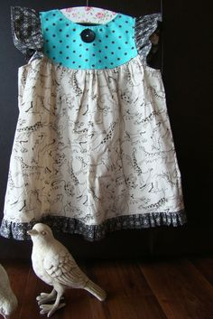 Animal Crackers girl's pinafore dress 2 3 by 3littlebirdsboutique, $48.00