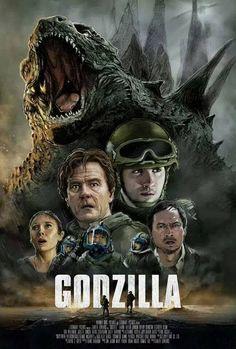 Godzilla 2014 Art Movie Poster