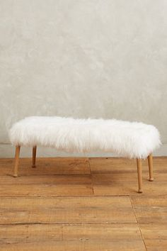 luxe fur bench #anthroregistry #gift #anthropologie