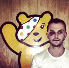 My bae with Pudsey <3 I hate his eye like that :(