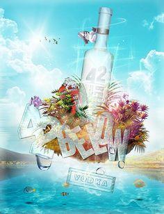 Contest Vodka 42 below del 2009 VODKA ISLAND  #GiuseppeLombardi #FattiDisegnare