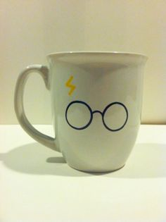 Hand painted Harry Potter mug by MySunshineglassware on Etsy, $12.00