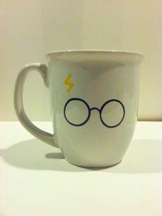 Hand painted Harry Potter mug by MySunshineglassware on Etsy, $12.00