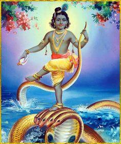 Krishna defeats Kaliya