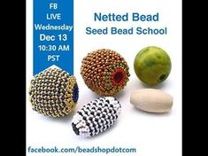 Netted Teardrop Bead Weaving Tutorial - YouTube