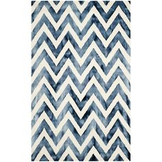Found it at Wayfair - Crux Hand-Tufted Ivory & Navy Area Rug