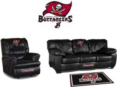 Use this Exclusive coupon code: PINFIVE to receive an additional 5% off the Tampa Bay Buccaneers Leather Furniture Set at SportsFansPlus.com