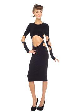 Norma Kamali Aztec cut out dress. love it!