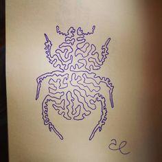 3. Escarabajo . #jarsart #jartober2020 #beetle #purple Instagram, Decor, Beetle, Decoration, Decorating, Deco