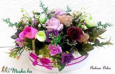 Virágbox rózsákkal és gyöngyvirággal KÉSZTERMÉK (pinkrose) - Meska.hu