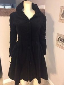 Recycle The Me Black Velvet Jacket Coat M Holiday Fall Winter | eBay