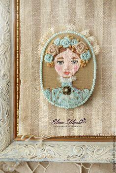 """Брошь"""" Элизабет"""". Handmade. #embroidery"""