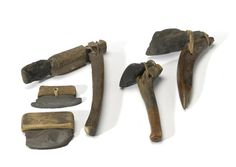 Five Eskimo stone-bladed implements