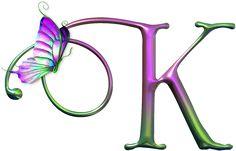 Butterfly Letter K Monogram Wallpaper, Alphabet Wallpaper, K Wallpaper, Flower Wallpaper, Alphabet Art, Monogram Alphabet, Alphabet And Numbers, Alphabet Soup, Alfabeto Animal