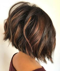 """It can not be repeated enough, bob is one of the most versatile looks ever. We wear with style the French """"bob"""", a classic that gives your appearance a little je-ne-sais-quoi. Here is """"bob"""" Despite its unpretentious… Continue Reading → Short Layered Bob Haircuts, Inverted Bob Haircuts, Choppy Bob Hairstyles, Short Hairstyles For Thick Hair, Haircuts For Fine Hair, Haircut For Thick Hair, Short Hair Cuts, Curly Hair Styles, Haircut Bob"""