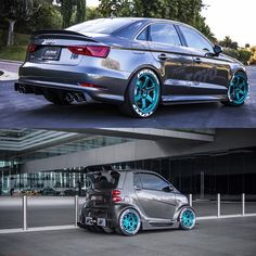 Audi S3 Sedan Widebody and Slammed e-Golf Revealed by Allroad Outfitters at 2015 SEMA