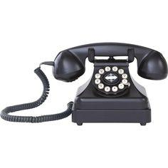 Telefone de Mesa Crosley Retrô Kettle Classic Preto CR62-BK -Telefonia - Telefones fixos - Walmart.com