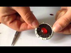 DIY coffee pod: Comment-décorer les vêtements avec des rivets en capsule - YouTube